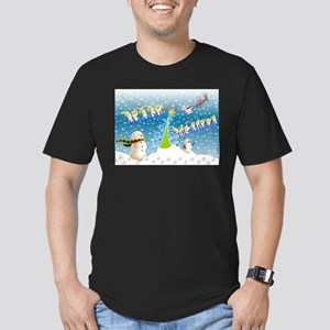Holiday, happy Men's Fitted T-Shirt (dark)
