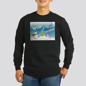 Holiday, happy Long Sleeve Dark T-Shirt