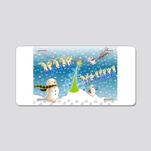 Holiday, happy Aluminum License Plate