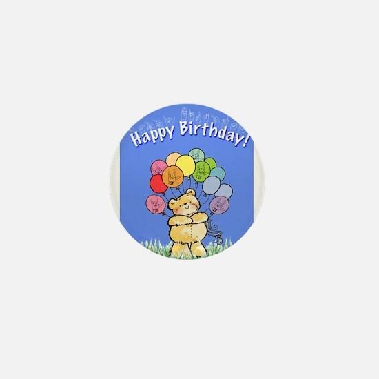 Happy Birthday Card Mini Button