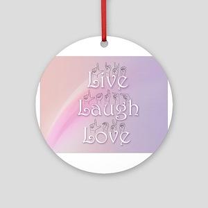 Live, Laugh, and Love Ornament (Round)