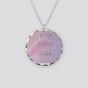 Live, Laugh, and Love Necklace Circle Charm