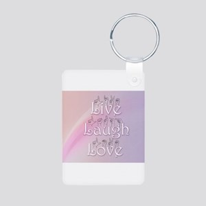 Live, Laugh, and Love Aluminum Photo Keychain
