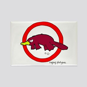 raging platypus Rectangle Magnet