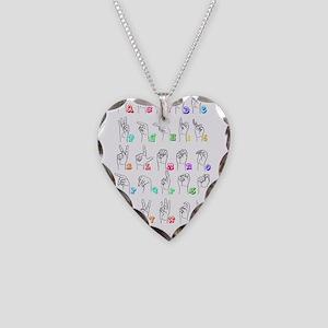 Manual Alphbet Necklace Heart Charm