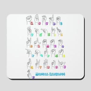 Manual Alphbet Mousepad