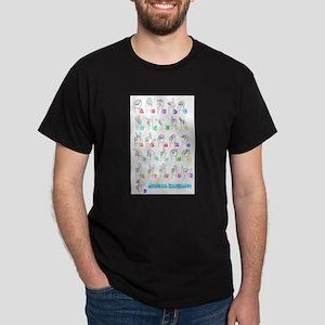 Manual Alphbet Dark T-Shirt