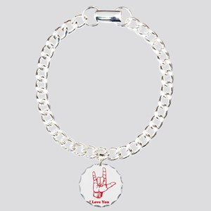 I love You Charm Bracelet, One Charm
