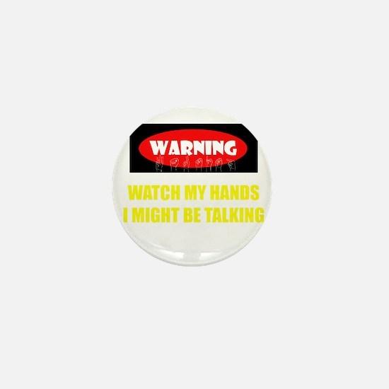 WARNING! Mini Button