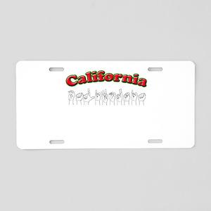 California Fingerspelled Aluminum License Plate