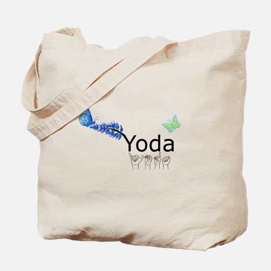 Yoda Fingerspelled Tote Bag