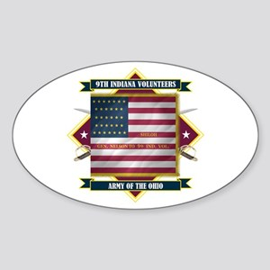 9th Indiana Volunteer Infantr Sticker (Oval)