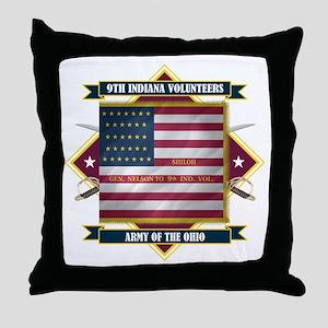 9th Indiana Volunteer Infantr Throw Pillow