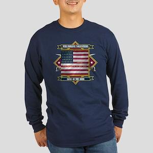 9th Indiana Volunteer Infantr Long Sleeve Dark T-S