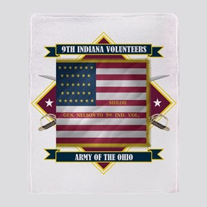 9th Indiana Volunteer Infantr Throw Blanket