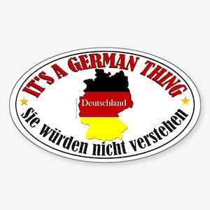 German Thing Sticker (Oval 50 pk)
