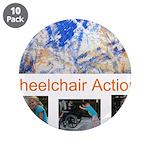 "Wheelchair Action Art 3.5"" Button (10 pack)"