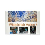 Wheelchair Action Art Rectangle Magnet