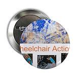 "Wheelchair Action Art 2.25"" Button (100 pack)"