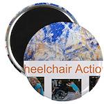 Wheelchair Action Art Magnet