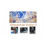 Wheelchair Action Art 38.5 x 24.5 Wall Peel