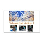 Wheelchair Action Art 22x14 Wall Peel