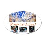 Wheelchair Action Art 38.5 x 24.5 Oval Wall Peel