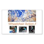 Wheelchair Action Art Sticker (Rectangle)