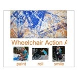 Wheelchair Action Art Small Poster