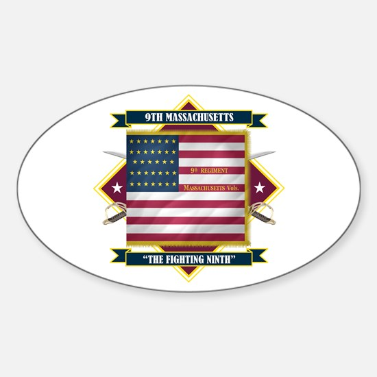 9th Massachusetts Sticker (Oval)