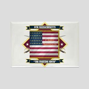 9th Massachusetts Rectangle Magnet