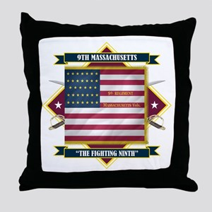 9th Massachusetts Throw Pillow