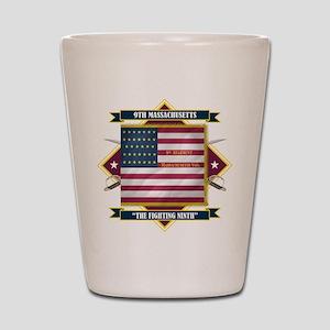 9th Massachusetts Shot Glass