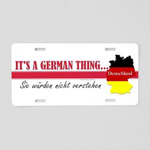 German Thing Aluminum License Plate