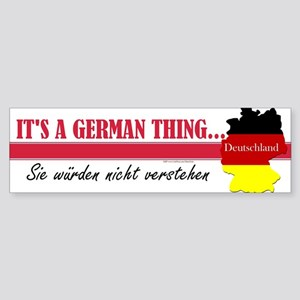 German Thing Sticker (Bumper)