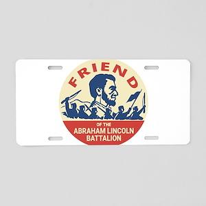 Abraham Lincoln Brigade - S Aluminum License Plate