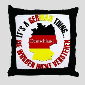 German Thing Throw Pillow