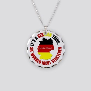 German Thing Necklace Circle Charm