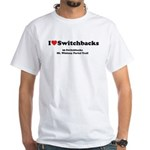 Switchbacks Mt. Whitney White T-Shirt