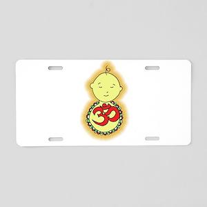 Om Baby Aluminum License Plate