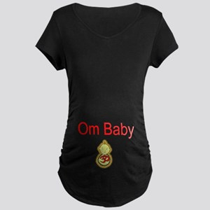 Om Baby Maternity Dark T-Shirt