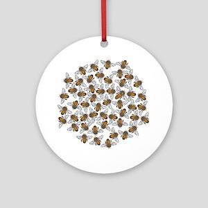 Honeybee Swarm Ornament (Round)