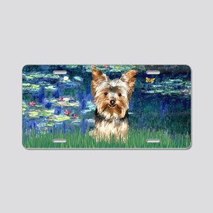 Lilies 5 - Yorkie 17 Aluminum License Plate