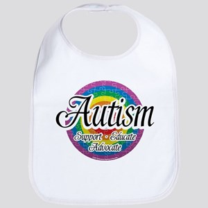Autism Circular Rainbow Bib