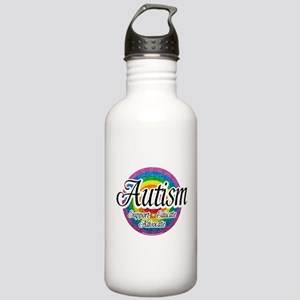 Autism Circular Rainbow Stainless Water Bottle 1.0