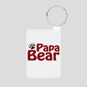 Papa Bear Claw Aluminum Photo Keychain