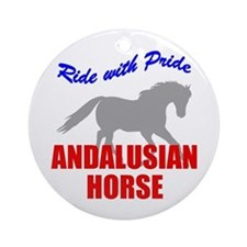 Ride With Pride Andalusian Horse Ornament (Round)