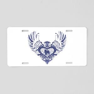 Papillon Aluminum License Plate