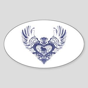 Pit Bull Sticker (Oval)
