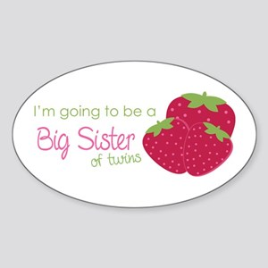 Berry Sister 2B Twins Sticker (Oval)